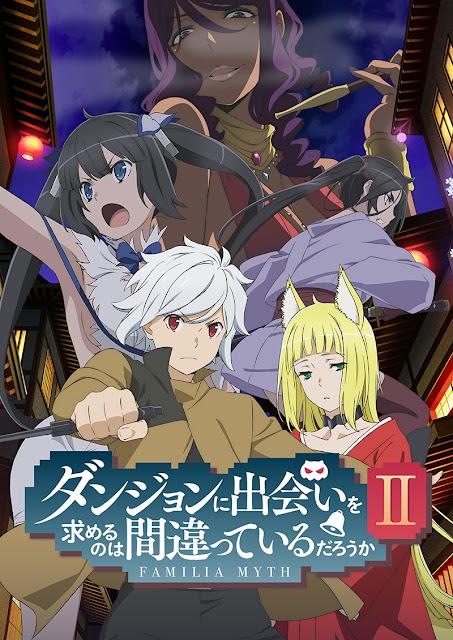 segunda temporada de la adaptación anime de la serie de novelas Danmachi - Dungeon ni Deai o Motomeru no wa Machigatteiru no Daro ka?