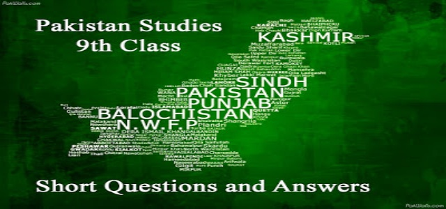9th Class Pak Studies Notes PDF Download