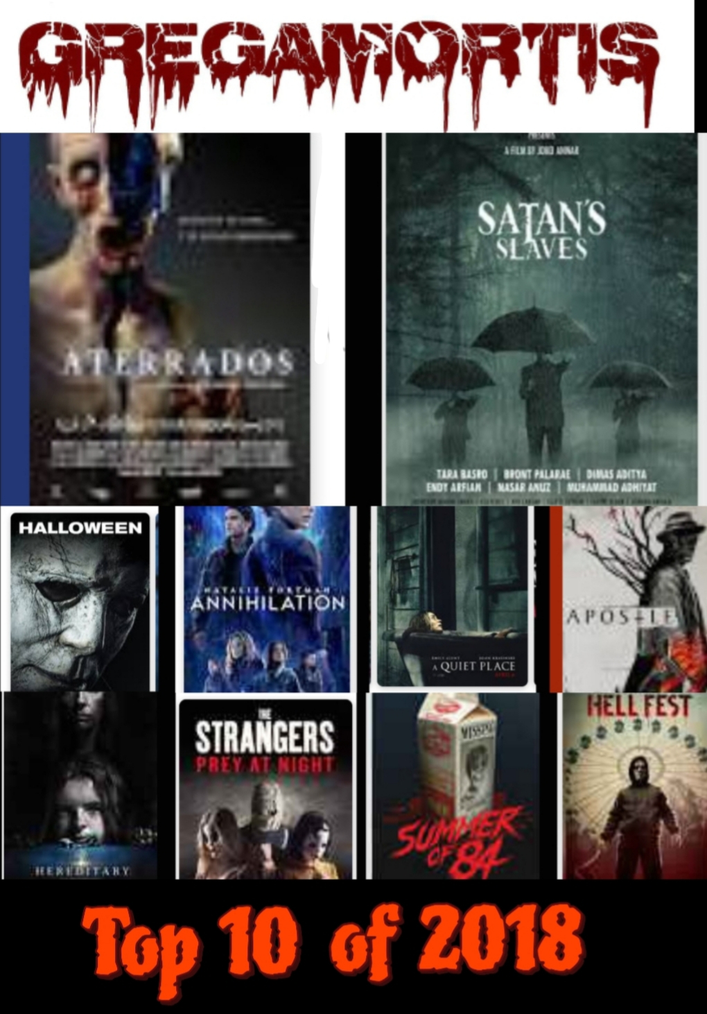 Land Of The Creeps Episode 187 : Top 10 Movies Of 2018 Land
