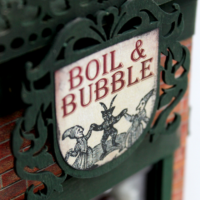 Boil & Bubble Miniature Occult Shop Window - pixiehill.com