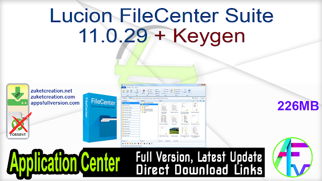 Lucion FileCenter Suite 11.0.29 + Keygen