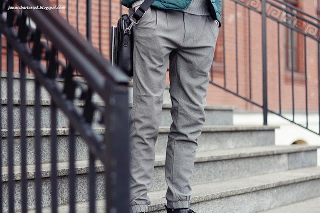 spodnie z nogawkami jak jogger fit