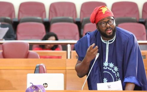 Desmond Elliot Looks Cute At Plenary In Lagos Assembly