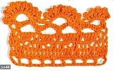 Patrón #1448: Puntilla a Crochet