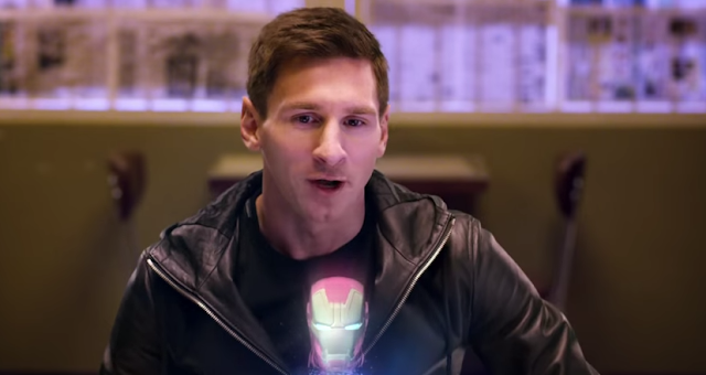 Samsung convierte a Messi en el último Vengador de Marvel