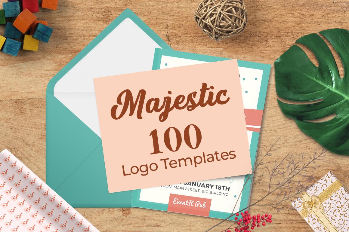 100 Majestic Vector Logo Templates Bundle