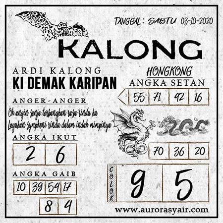 Syair Kalong HK Sabtu