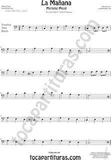 Trombone, Tube and Euphonium Sheet Music for Morning Mood Classical Music Scores