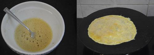 Indian style Mushroom Omelette