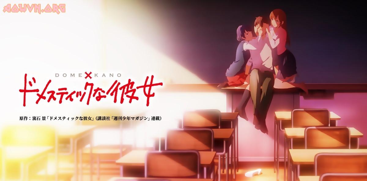 DuxnmshUwAAfW4Q - [ Anime 3gp Mp4   Ep 2 ] Domestic na Kanojo   Vietsub - Drama ngập trời!!!