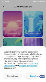 Xiaomi MIUI 11 Funkcja Budzik Tygodniowy
