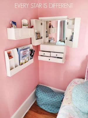 A Minimalist Montessori Preteen Girl's Bedroom Vanity