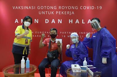 CCEP Indonesia Turut Partisipasi Dalam Program Vaksinasi Gotong Royong