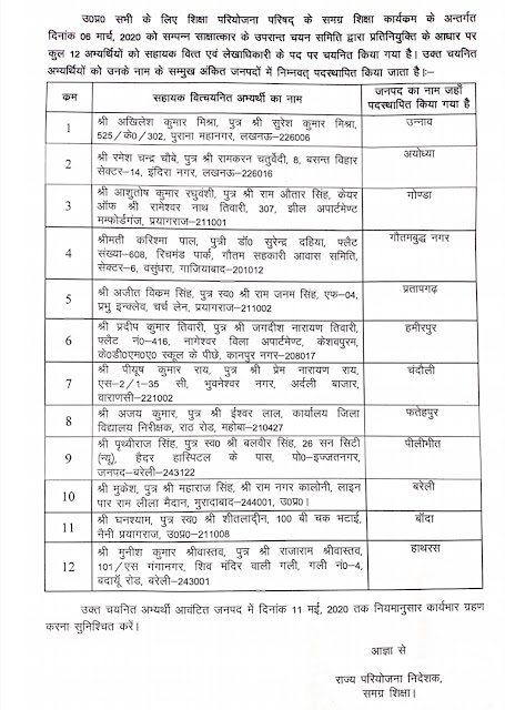 प्रतिनियुक्ति के आधार पर 12 सहायक वित्त एवं लेखाधिकारी को नई तैनाती का आदेश जारी - primary ka master lekhadhikari joining order