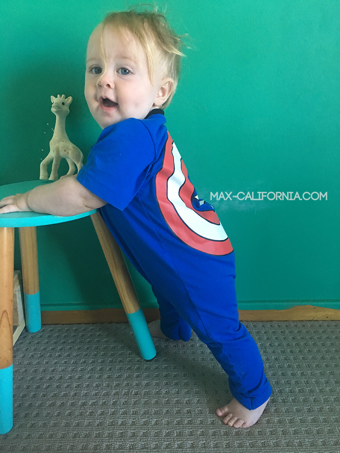 captain america t-shirt to onesie! • www.max-california.com