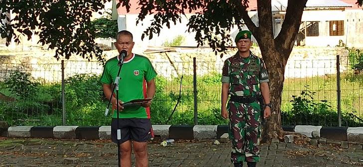 Ka Ajenrem Pimpin  Personel Korem 141/Tp, Balakrem Beserta PNS Melaksanakan Apel Pagi