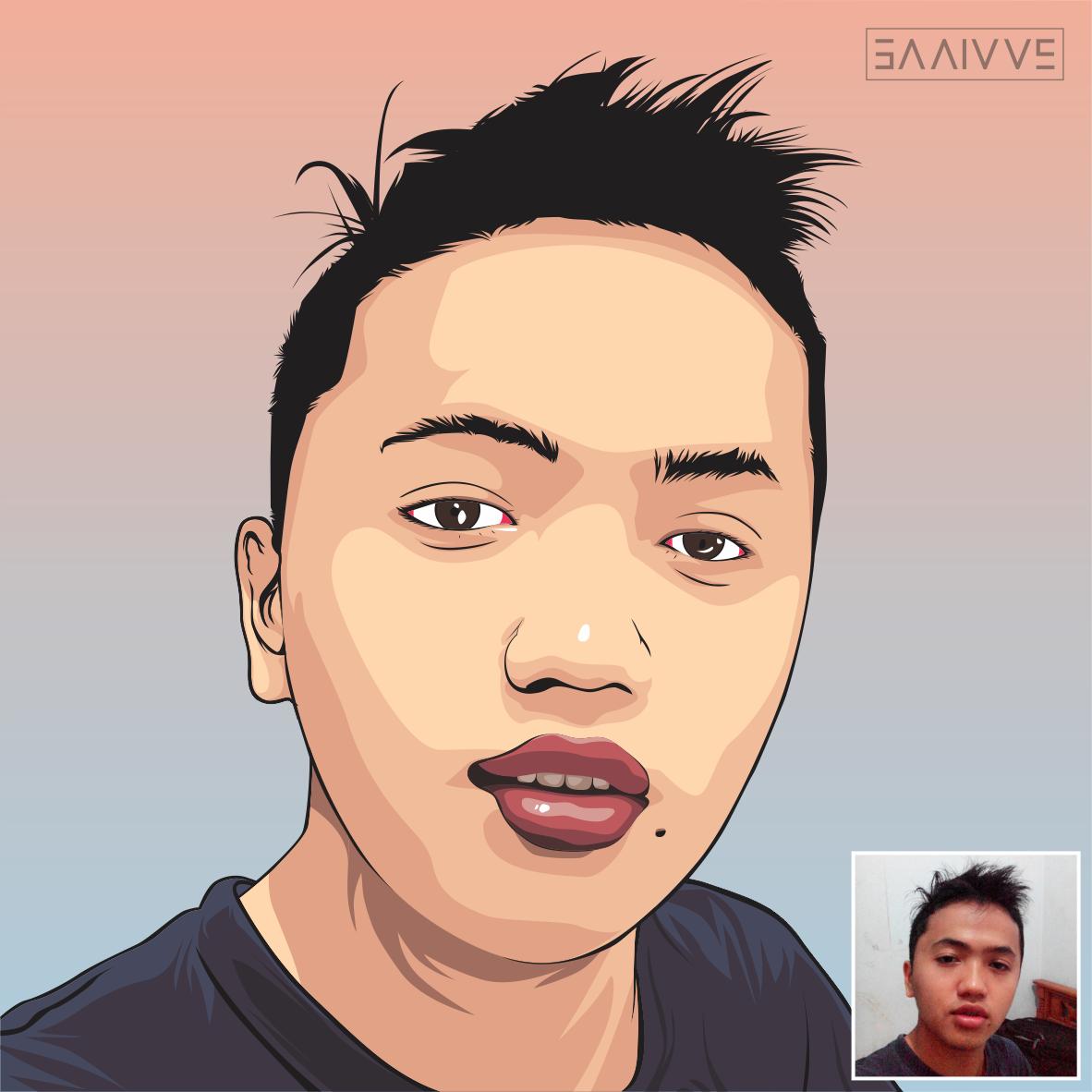 Line Art Wajah : Jasa order vektor wajah kartun artlistious