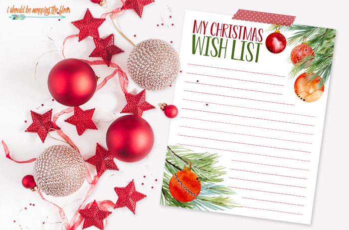 Free Christmas Wish List Printables