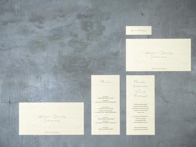 Minimalistyczne zaproszenia na ślub od My Simply Wedding.