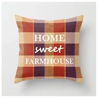 Burlap & Home Sweet Farmhouse Throw Pillow by Ale Perdomo