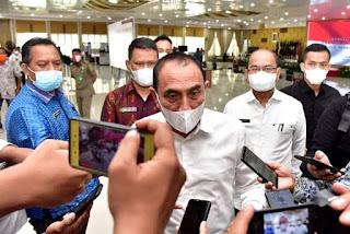 Gubernur Sumut Perpanjang Pembatasan Kegiatan Masyarakat, Mall, Kafe, Kuliner Hanya Diperbolehkan Hingga Pukul 21:00 WIB
