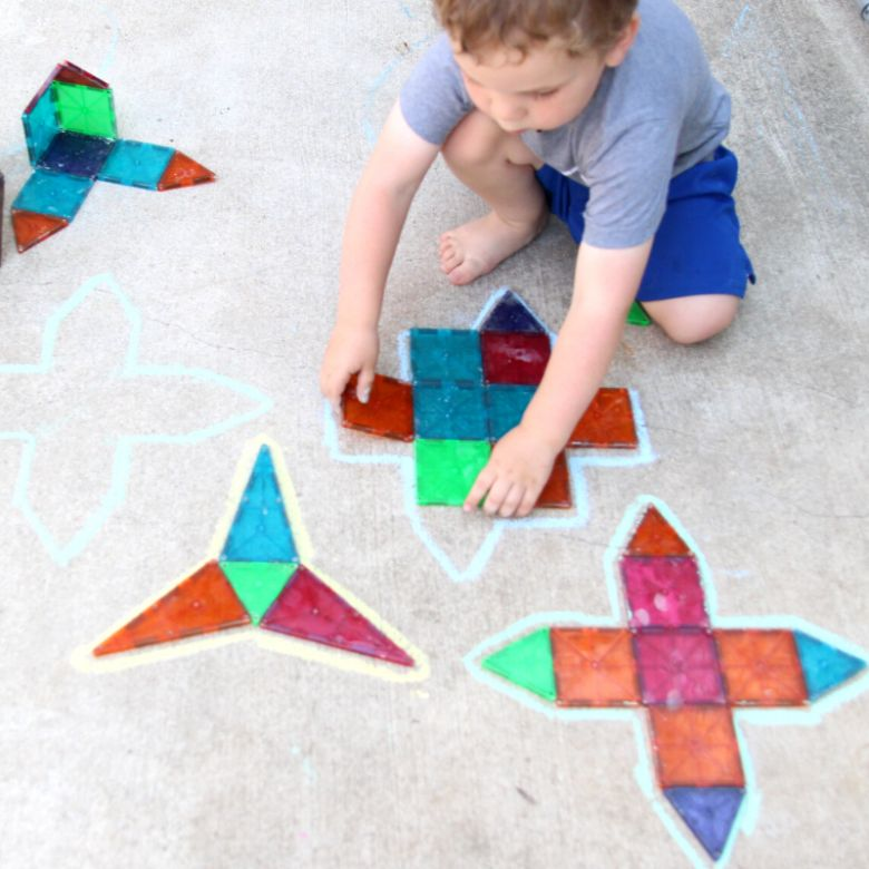chalk puzzles sidewalk chalk ideas