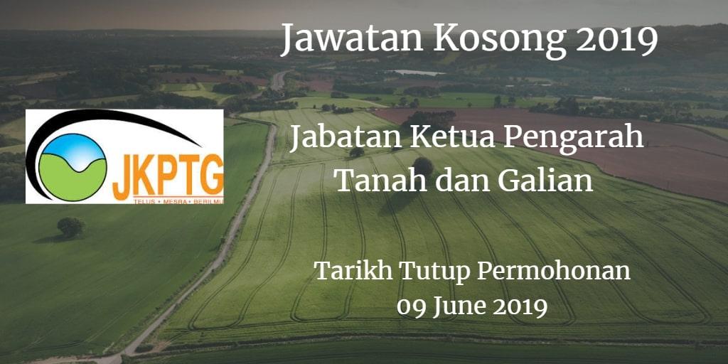 Jawatan Kosong Jabatan Ketua Pengarah Tanah dan Galian 09 June 2019