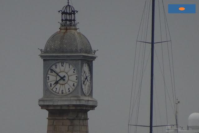 Rellotge del moll de Pescadors al port de Barcelona