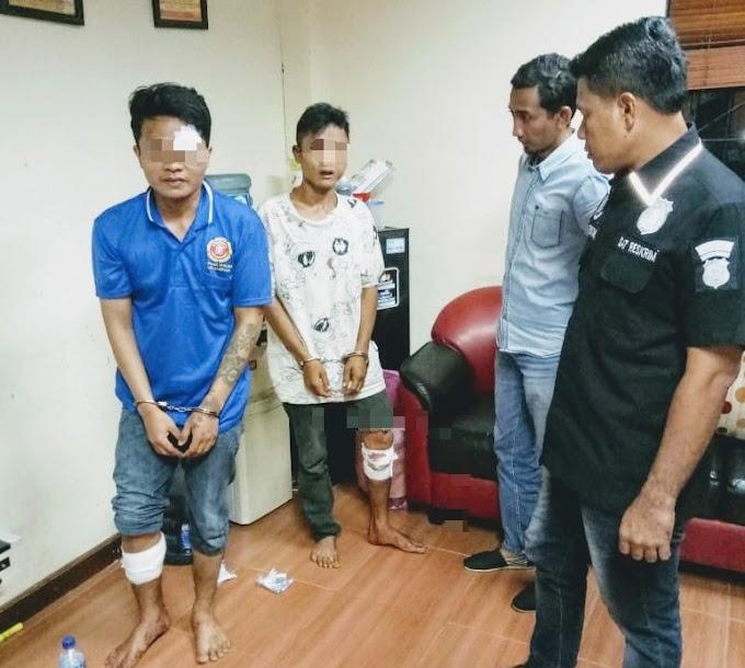 Dorrr...! Dua Pelaku Curanmor Ditembak Buser Polsek Tambora
