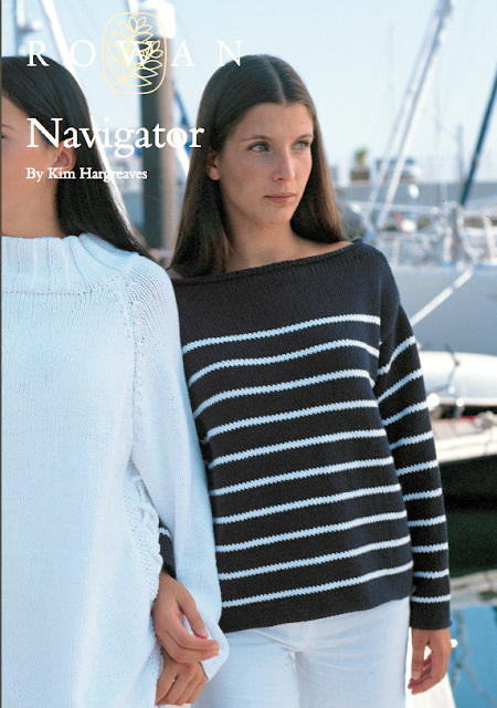 The Vintage Pattern Files: Free 1960's Knitting Pattern  Navigator A Breton Style Knit