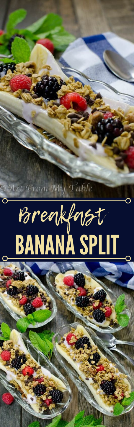 BREAKFAST BANANA SPLIT #banana #breakfast #diet #keto #whole30