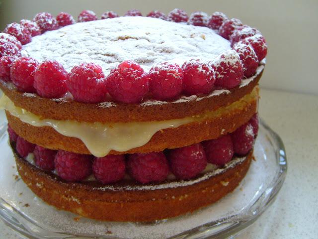 Queen Raspberry Birthday Cake