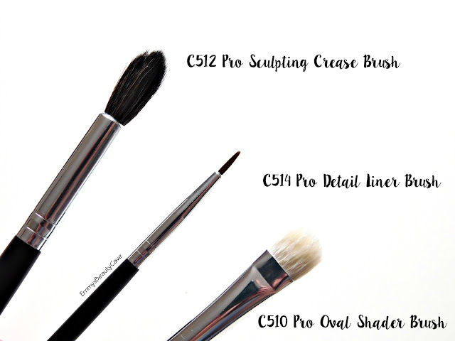 Crown Brush C512 Pro Sculpting Crease Brush, Crown Brush C510 Oval Shader, Crown Brush C514 Liner Brush