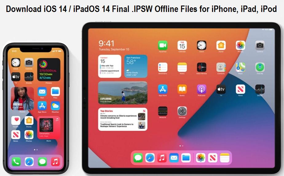 Download iOS 14 iPadOS 14 Final .IPSW