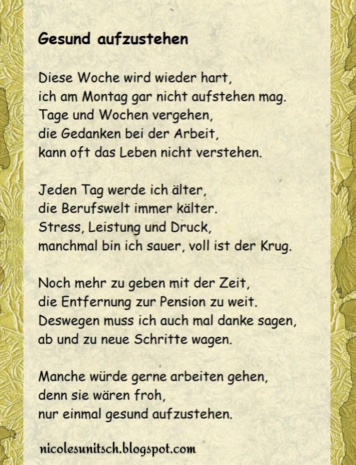 Gedichte Von Nicole Sunitsch Autorin Gesund Aufzustehen