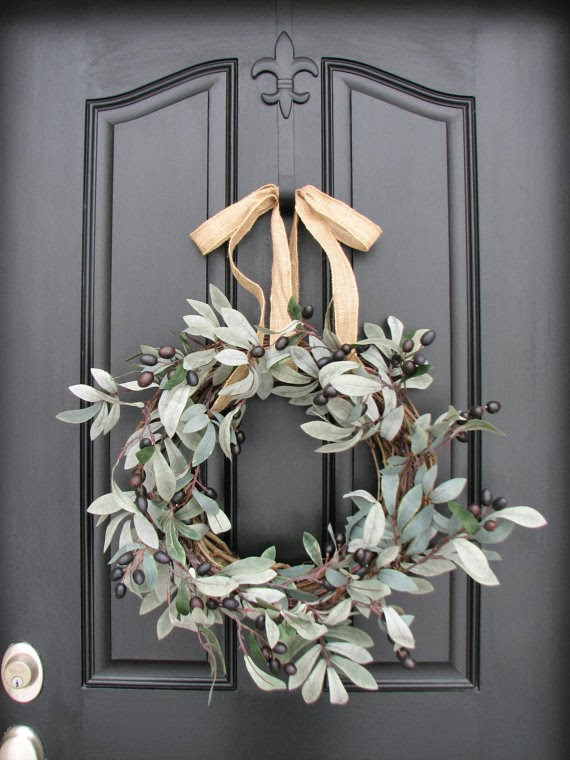 flowers, ideas, entrance decoration, door, wreath, decor, vase, candle holder