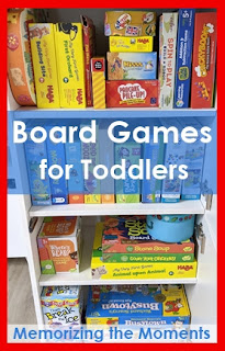 Tips and ideas for board games with 2 and 3 year olds