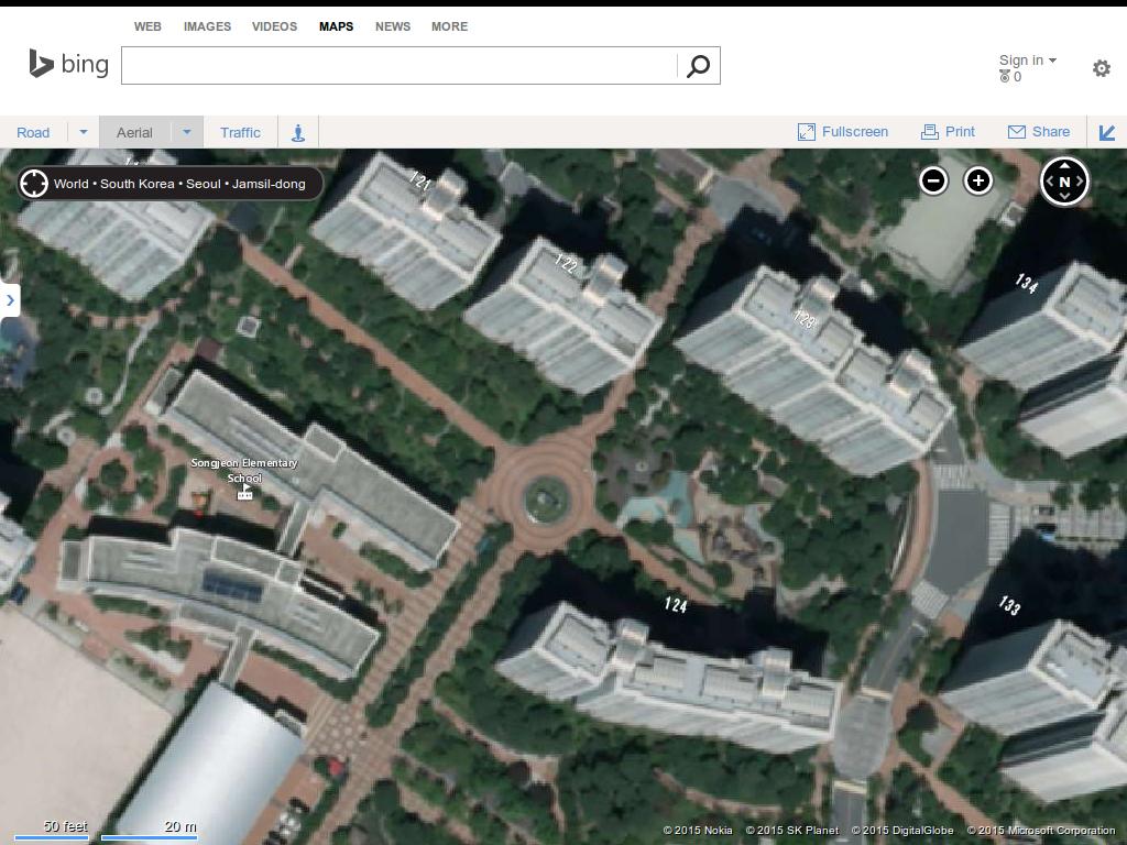 bing maps satellite view