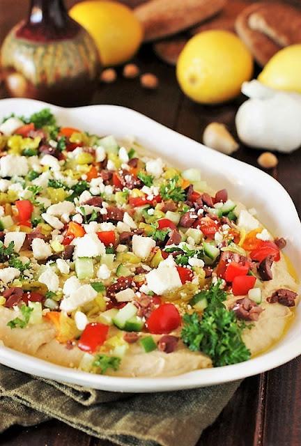 Platter of Loaded Hummus Dip Image