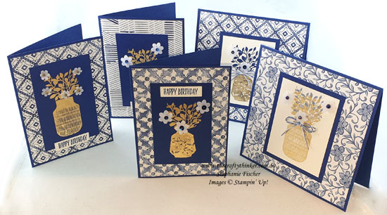 #thecraftythinker #stampinup #cardmaking #gildedleafing #bohoindigo #cardset , Gilded Leafing, , Cardmaking, Boho Indigo, Elegant card set, Stampin' Up Demonstrator, Stephanie Fischer, Sydney NSW