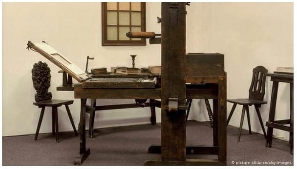 Réplica da Imprensa de Gutemberg – Museu Gutemberg