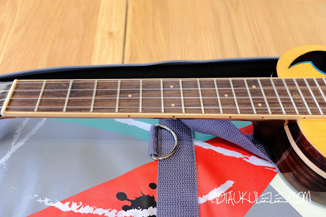 The Rebel Quark Tenor Ukulele neck