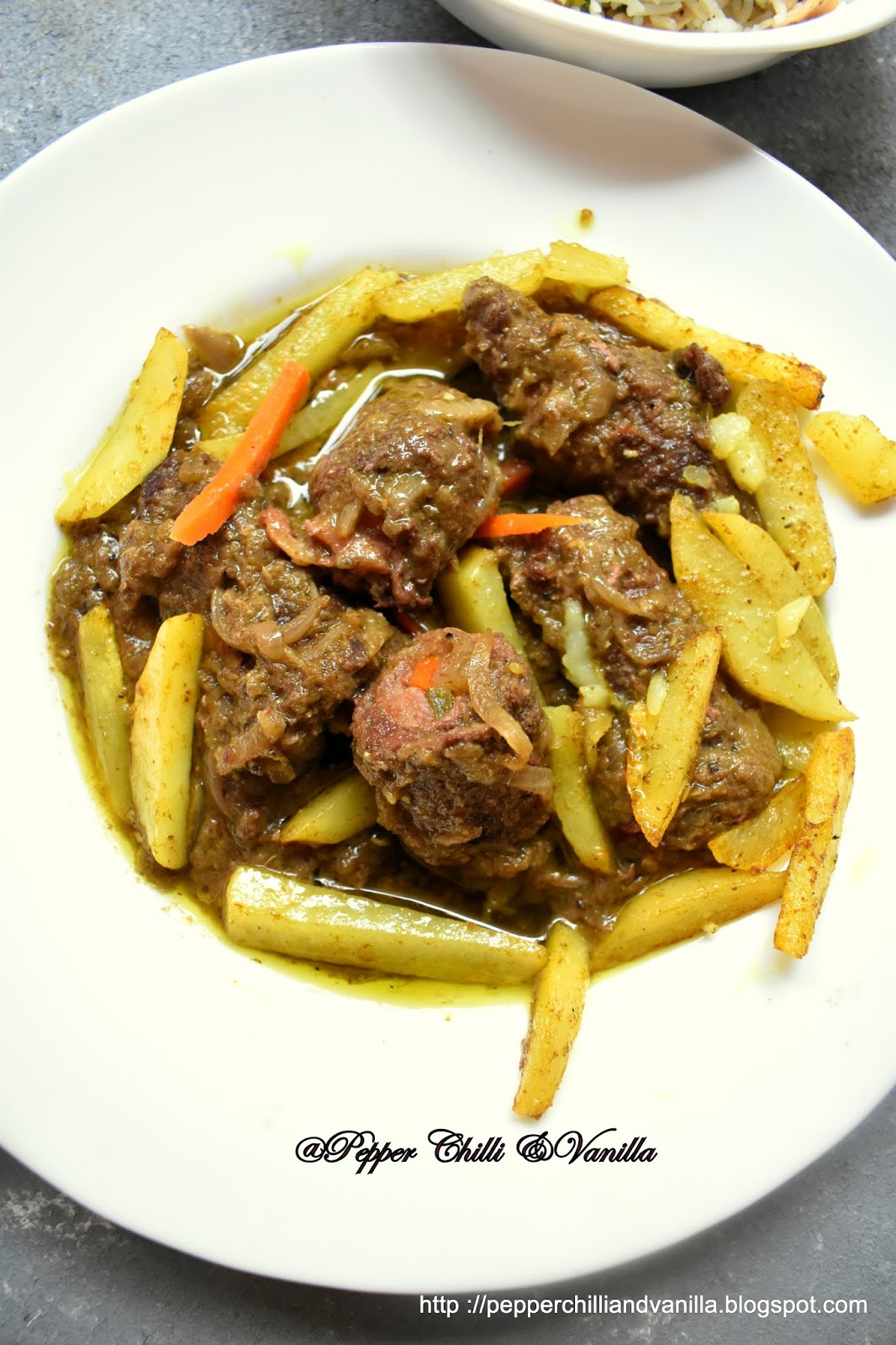 beef roulade in green masala