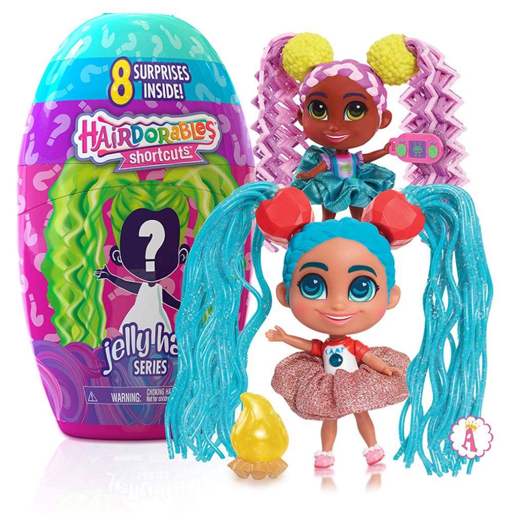 Новые куклы Hairdorables Shortcuts Jelly Hair 2020 года игрушки для девочек