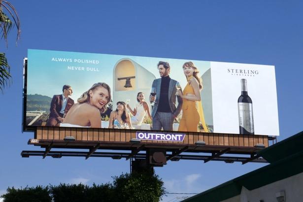 Sterling Vineyards wine Always polished billboard