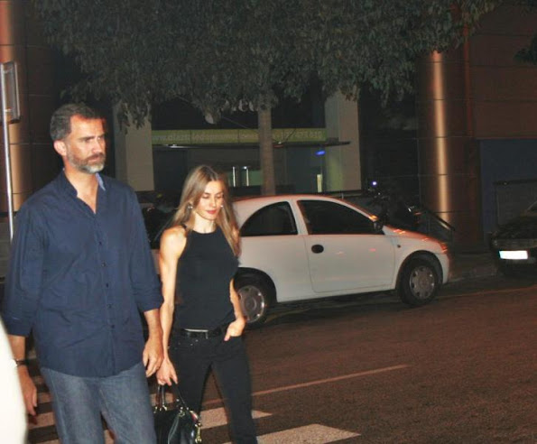 Crown Prince Felipe and Crown Princess  Letizia watched the concert of Jaime Anglada in Palma de Mallorca