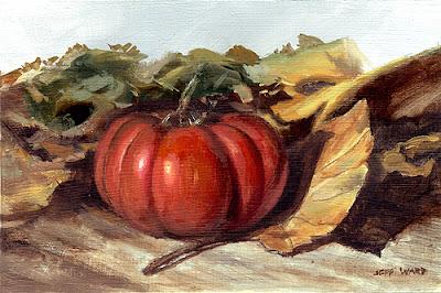 Autumn Tomato oil painting by Jeff Ward