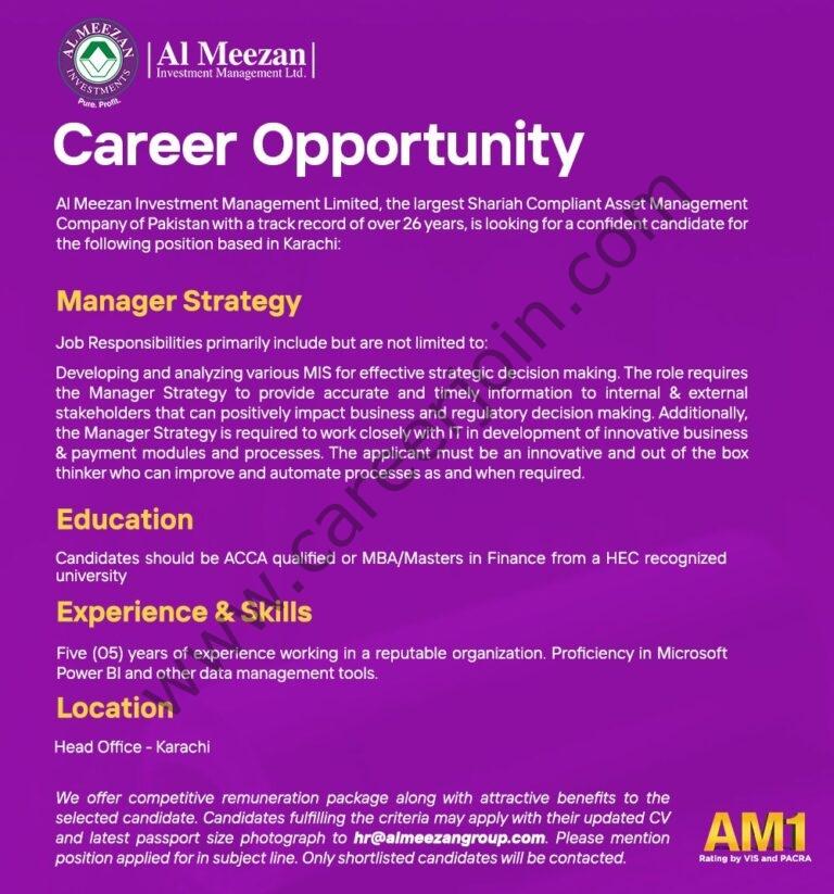 Jobs in Al Meezan Investment Management Ltd