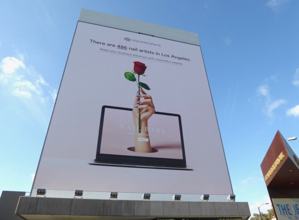 SquareSpace nail artists LA billboard
