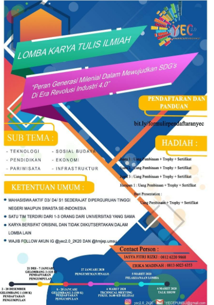 Lomba Karya Tulis Ilmiah Nasional 2020 di HMJEP UMSU